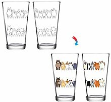 Cheeky Cats ThermoC Logo Pint-Glas