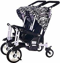 CHEERALL Doppel Kinderwagen Kinder Doppel Dreirad