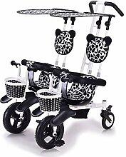 CHEERALL Kinder-Doppel-Dreirad Leichtes