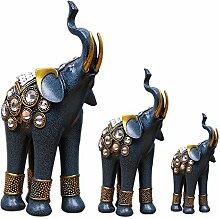 Cheerfulus 3 in 1 Dekofigur Elefant Südostasien Stil,Elefant Familie Dekofigur als Hochzeit Geschenk,Hochzeit dekoration,Geburtstagsgeschenk,dekoration Wohnung Modern