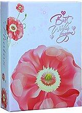 Cheerlife Fotoalbum Einsteckalbum mit Blumen
