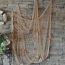 Cheers-online Fischernetz als Dekoration für Wand, Decke oder Bar, mit Muscheln, für Strandparty oder als Wohnungsdekoration–Weiß