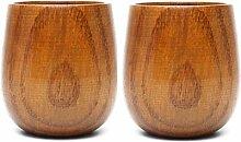 CheeseandU Japanische Holzteetassen, traditionelle