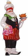 Chefkoch mit Huhn, 15cm