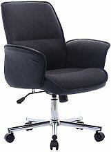 Chefsessel Bürostuhl Chefstuhl Bürodrehstuhl Schreibtischstuhl PU Stuhl Arbeitshocker Drehstuhl Höhenverstellung (Schwarz)