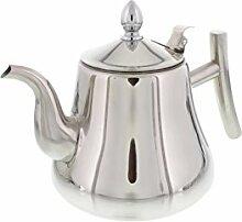 Cheftor Teekanne aus poliertem Edelstahl, 2 Liter,