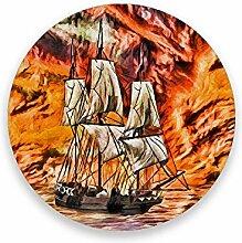 CHEHONG Saugfähige Getränkeuntersetzer Segelboot