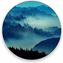 CHEHONG Saugstarke Getränkeuntersetzer Berg Nebel