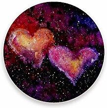 CHEHONG Saugstarke Getränkeuntersetzer Love Pink