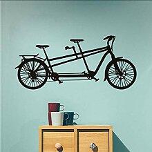 Chellonm Tandem Fahrrad Wandaufkleber Neues Design