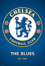 Chelsea FC Foto-Tapete 2-teilig - Fototapete Wallpaper 232x158cm. Beigelegt sind eine Packung Kleber und eine Klebeanleitung.