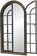 chemin_de_campagne Spiegel Fenster aus Holz,