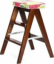 Chen- Blumen Einfache Holz Kreative Klappstuhl Einfache Klappleiter Hocker Küche Hocker Tragbare Hocker Klapp Hause Bank ( Farbe : B )