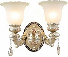 Chen Europäische Retro Glas Lampe Cover Resin