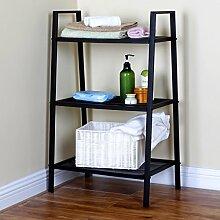Chen- Landung Regal Wohnzimmer Küche Einfach Eisen Bücherregal Blumenregal Regal Regal Multi-Regal Regale Die neue Lagerung Rack Black Style