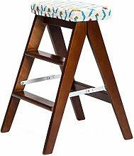Chen- Linie Einfache Holz Kreative Klappstuhl Einfache Klappleiter Hocker Küche Hocker Tragbare Hocker Klapp Hause Bank ( Farbe : B )