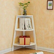 Chen- Schlafzimmer Ecke Bücherregal Eckstand Wohnzimmer Regal Blumenregal Regal Ecke modern einfach