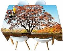 Chen Tischdecken 3D Tischdecke Stoff Baumwolle
