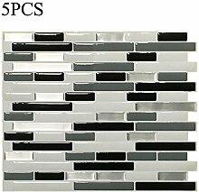 chendongdong 3D Wandpaneele Selbstklebend Brick Tapete Wandaufkleber Für die Küche, Schlafzimmer, Esszimmer, Kinderzimmer(type A;5pcs)