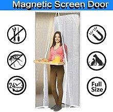 Full Frame Klettverschluss CHENG Magnet Fliegengitter T/ür Passt T/ürgr/ö/ße bis zu 100x240cm 39x94inch Insektenschutz T/ür Vorhang mit Wei/ß