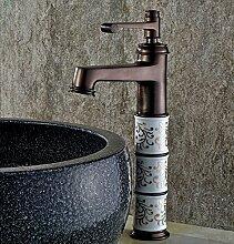 ChengSui Neuer Kostenloser Versand Europäische Vintage Style Waschtisch Armatur Waschbecken Wasserhahn Öl Eingerieben Bronze Rot Bad Armatur Mischbatterie Deck Montier