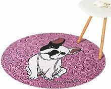 CHENGYANG Rutschfeste Teppich Runde Weich Teppich für Wohnzimmer Schlafzimmer und Bad Matten (Stil#2, 150*150cm)
