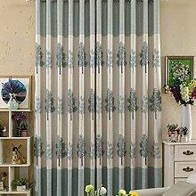 CHENGYI Boden Vorhänge Schlafzimmer Vorhänge