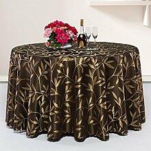 CHENGYI Dunkelbraunes Blumenmuster Tuch Tischdecke Weich Modern Einfache Mode Upscale Wohnzimmer K¨¹che Restaurant Hotel Heimtextilien (Dieses Produkt verkauft nur Tischt¨¹cher) Durchmesser 200cm