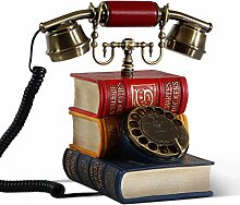 CHENGYI Europäische Stil Buch Form Retro Telefon Hause Kreative Mode Festnetztelefon Büro Festnetz
