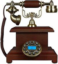 CHENGYI Europäisches Retro Telefon Mode Kreative Massivholz Home Office Festnetz