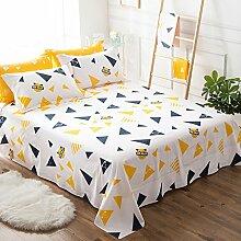 CHENGYI Gelbes Muster Baumwollbettwäsche Einzelstück Doppelbett Bettdecken 1.2m 1.5m 1.8m 2.0m Bett Student Schlafsaal Heimtextilien ( größe : 230*250cm )