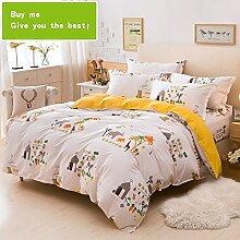 CHENGYI Grau Muster Heimtextilien Quilt Cover Einzelstück Cotton Student Single Double Quilt Cover ( größe : 180*220cm )