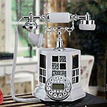 CHENGYI Kreative europäischen Stil Retro-Telefon Zuhause Schlafzimmer Wohnzimmer Büro Festnetz ( Farbe : Weiß )