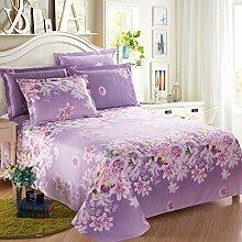 CHENGYI Lila Blumenmuster Baumwollbettwäsche Einzelstück Doppelbett Bettdecken 1.2m 1.5m 1.8m 2.0m Bett Student Dormitory Heimtextilien ( größe : 120*230cm )
