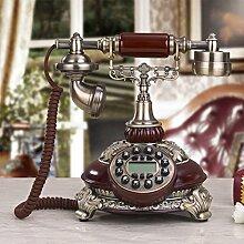 CHENGYI Nachahmung Holz Farbe im europäischen Stil Retro Telefon Home Office Kreative Festnetz im alten Stil Telefon Dekoration