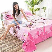 CHENGYI Pink Pattern Baumwollbettwäsche Einzelstück Doppelbett Bettdecken 1.2m 1.5m 1.8m 2.0m Bett Student Dormitory Heimtextilien ( größe : 120*230cm )