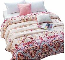 CHENGYI Polyester Gelb Rosa Blumenmuster Einzelne oder Doppelte Einfache Und Moderne Heimtextilien Wolldecke 150 * 200cm
