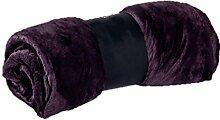 CHENGYI Polyester Lila Blumenmuster Single oder Double Einfache und moderne Heimtextilien Wolldecke 150 * 200cm