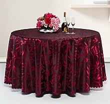CHENGYI Red Flower Pattern Tuch Tischdecke Soft Modern Einfache Mode Upscale Wohnzimmer K¨¹che Restaurant Hotel Heimtextilien (Dieses Produkt verkauft nur Tischt¨¹cher) Durchmesser 300cm