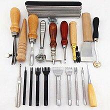 chengyida 20Werkzeuge Werkzeug Kit Leder Hand