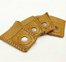 chengyida 4-Pack Praktische Fingerhut strapazierfähiges Leder Münze Abdeckung Nähen Quilten