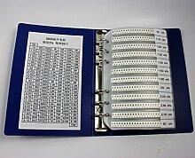 chengyida 4250pcs 0805Praktische SMD Widerstand und Buch Kit (170, 25Stück/) Wert Elektronische Komponenten + 5x blanko Einsatz
