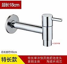 ChengZhi helle China Sanitär, erweiterte mop Badewanne, Waschmaschine, spritzwassergeschützt, Erkältung Wasseranschluß, Extrem lange mesh Düse Schnittstelle (roter Griff)