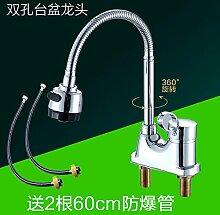 ChengZIWaschbecken Wasserhahn, heiße und kalte