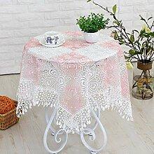 ChenHui Bestickte Gaze Tischdecke Tisch Abdeckung
