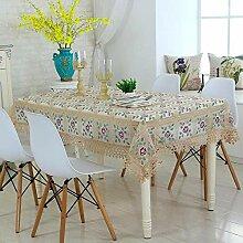 ChenHui Bestickte hohlen Tischdecke Tisch Tuch