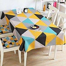 ChenHui Dicker Baumwolle Leinen Tisch Tischdecke