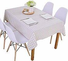 ChenHui Karierte Tischdecke Tisch Tischdecke Stoff