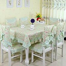 ChenHui Rustikale Tischdecke Kissen Rückenlehne