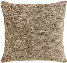 Chenille Cushion Cover Natural Beige 22x22 by Ideal Textiles